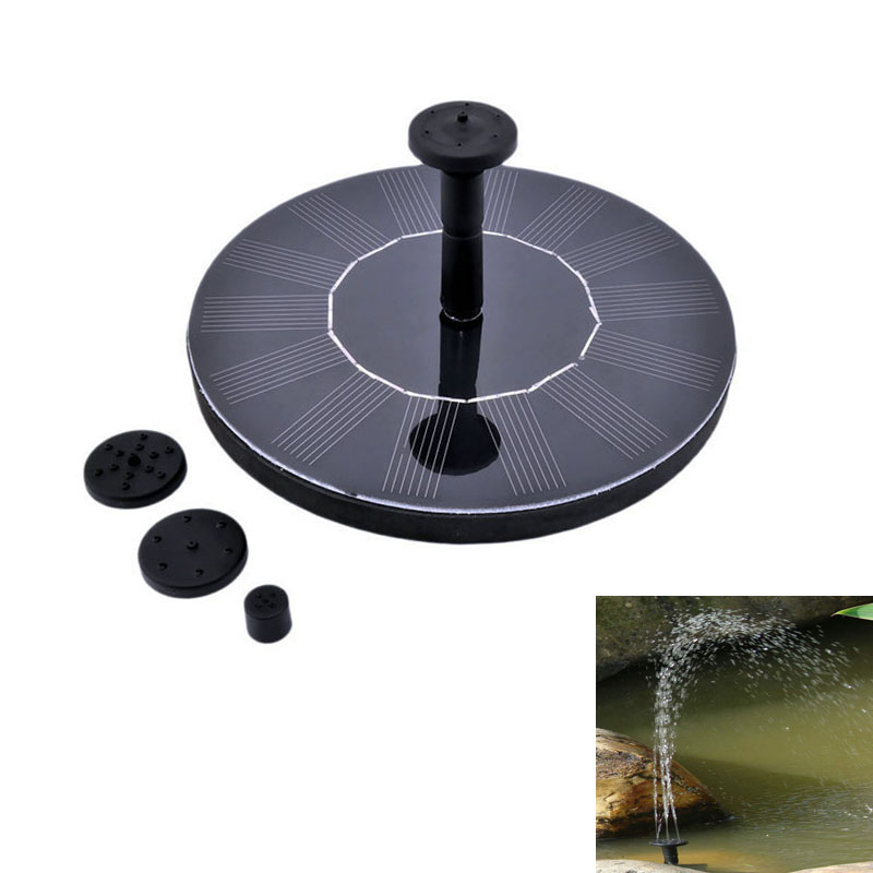 New Energy 7V Floating Water Pump Solar Panel Garden Plants Watering Power Fountain Pool