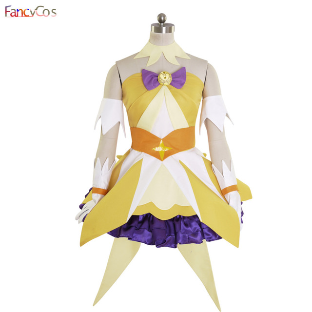 Halloween Women s Go! Princess PreCure Cure Twinkle Party Dress Cosplay  Costume High Quality Custom Made a08cfde54a4c