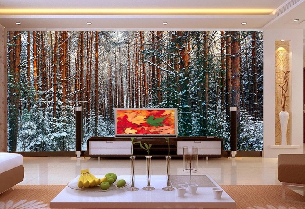 [Self-Adhesive] 3D Winter Snow Forest 23 Wall Paper Mural Wall Print Decal Wall Murals