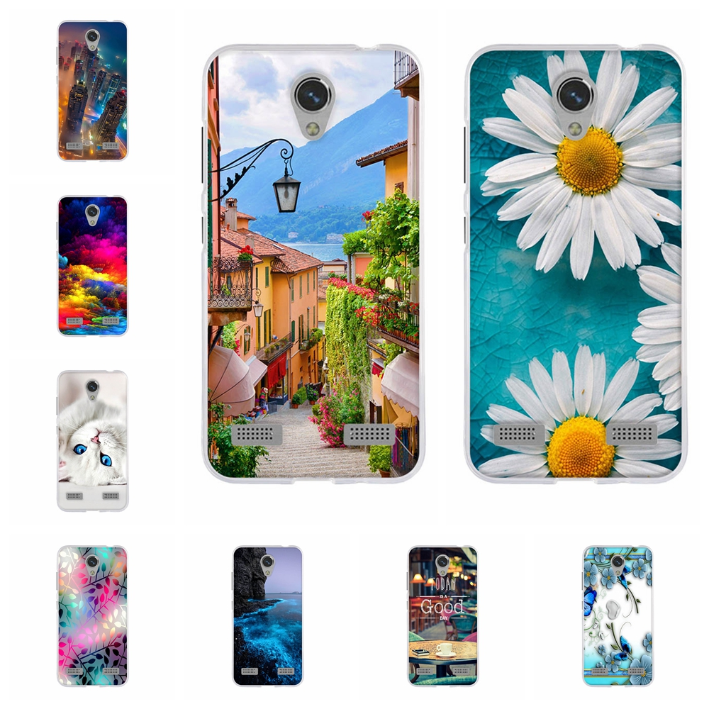 For ZTE Blade A520 Back Cover Soft TPU Silicone For ZTE Blade A520 A 520 Protective Case Floral Patterned For ZTE A520 Coque Bag