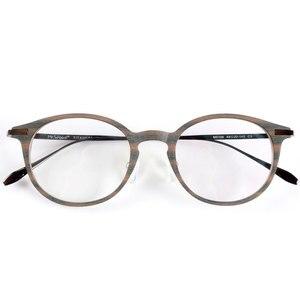 Image 1 - En iyi kalite ahşap şerit titanium gözlük çerçeveleri reçete gözlük veya dekorasyon