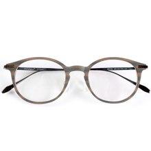 Monturas de gafas de titanio a rayas de madera de la mejor calidad para gafas de prescripción o decoración