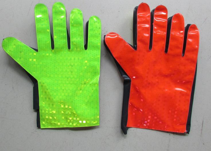 Flashing PVC Reflective safety gloves warning protective gloves pvc sandblaster gloves 60cm