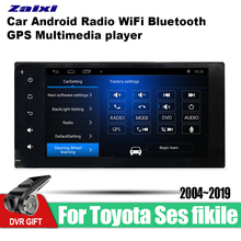 ZaiXi Android Car GPS Multimedia Player For Toyota Ses fikile 2004~2019 car Navigation radio Video Audio Bluetooth