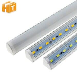 Image 1 - 5 adet/grup duvar köşe LED Bar ışık DC 12V 50cm SMD 5730 sert LED şerit ışık için mutfak kabine altında