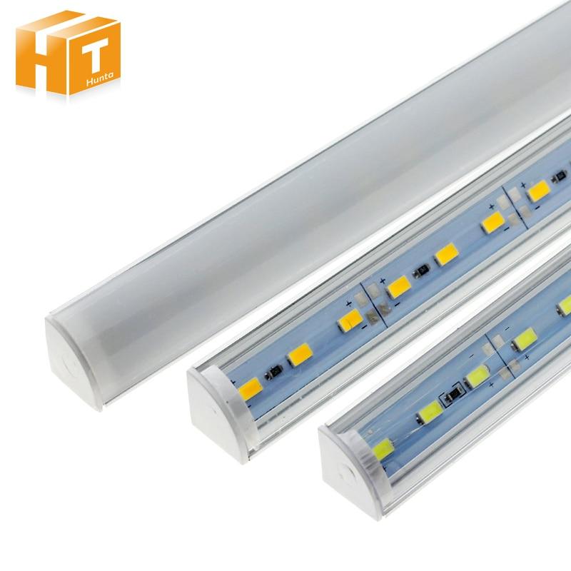 5Pcs/lot Wall Corner LED Bar Light DC 12V 50cm SMD 5730 Rigid LED Strip Light For Kitchen Under Cabinet