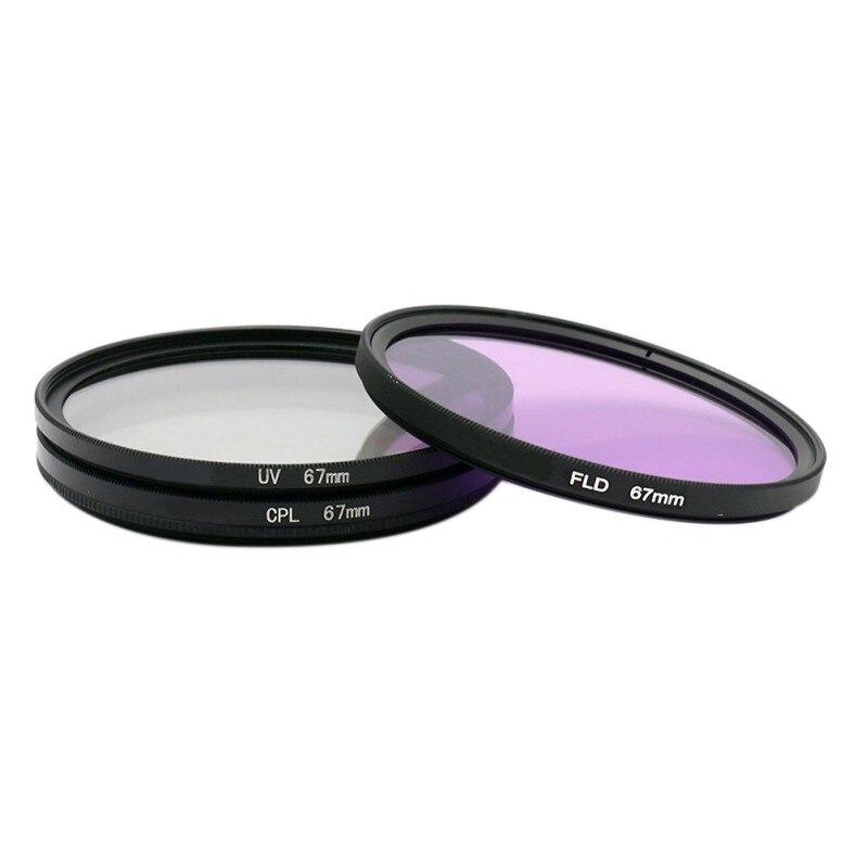 67mm caméra filtre UV miroir polariseur CPL Fluorescent FLD professionnel universel CameraFilter ensemble