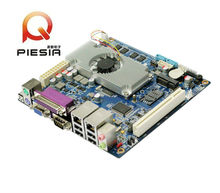 Stable PC mini motherboard 12V DC industry mainboard with 2*RJ45 lan port 2GB onboard RAM