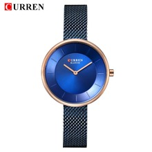 CURREN Women Watches Top Brand Luxury Gold Ladies Watch Stai