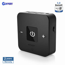 Bluetooth V5.0 Transmitter And Receiver For TV Car Stereo Home Audio Wireless 3.5mm Aux Adapter AptX Low Latency Supports 25h august mr230 aptx low latency wireless bluetooth 4 2 audio receiver 3 5mm aux bluetooth audio receiver adapter for car speakers