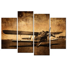 Canvas Prints Vintage Aircraft Art Old Plane Picture Wall Decor Paintings Retro Military Aviation Airplane Fighter