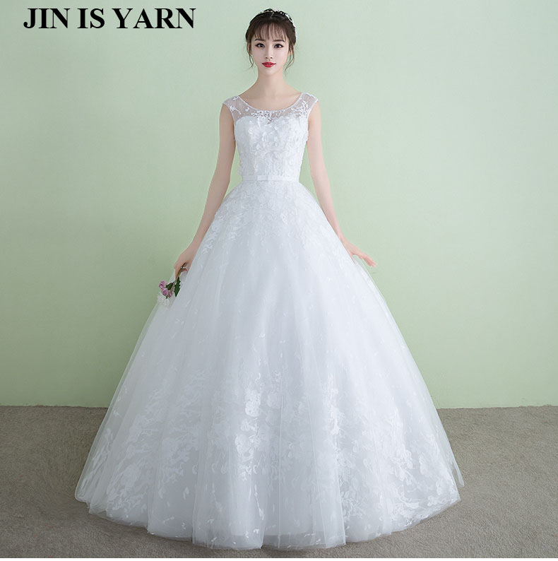 Aliexpress.com : Buy ZJ9036 2017 2017 white ivory lace A line bridal dress  bride retro dress plus size manufacturing customer 2 26 W from Reliable ...