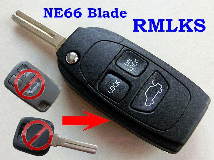 RMLKS Repalcement Remote Flip Folding Key Fob Case Shell Fit For VOLVO S40 V40 V70 V90 S60 S70 S80 S90 XC70 XC90 C70