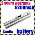 Jigu 4400 mah de 6 celdas de batería blanco msi wind u90 u100 bty-s11 bty-s12 envío libre