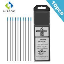HITBOX вольфрамовый электрод WL20 Вольфрам Tig сварочные стержни 10 шт 2,4 мм синий/красный сварочный электрод