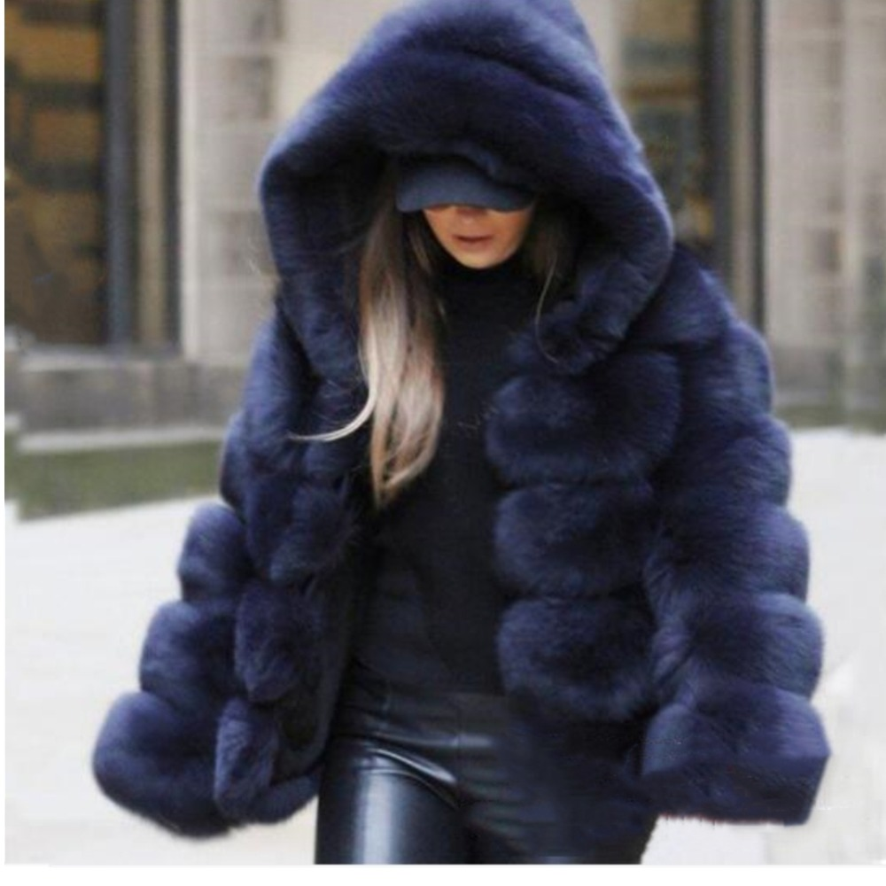 Lisa Colly/модные женские зимние толстые теплые меховые пальто, куртки, Женская куртка из искусственного меха с длинными рукавами, роскошное пальто с лисьим мехом, верхняя одежда