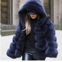 Lisa Colly Модные женские зимние толстые теплые меховые пальто куртки женские с длинным рукавом пальто из искусственного меха куртка Роскошная ...