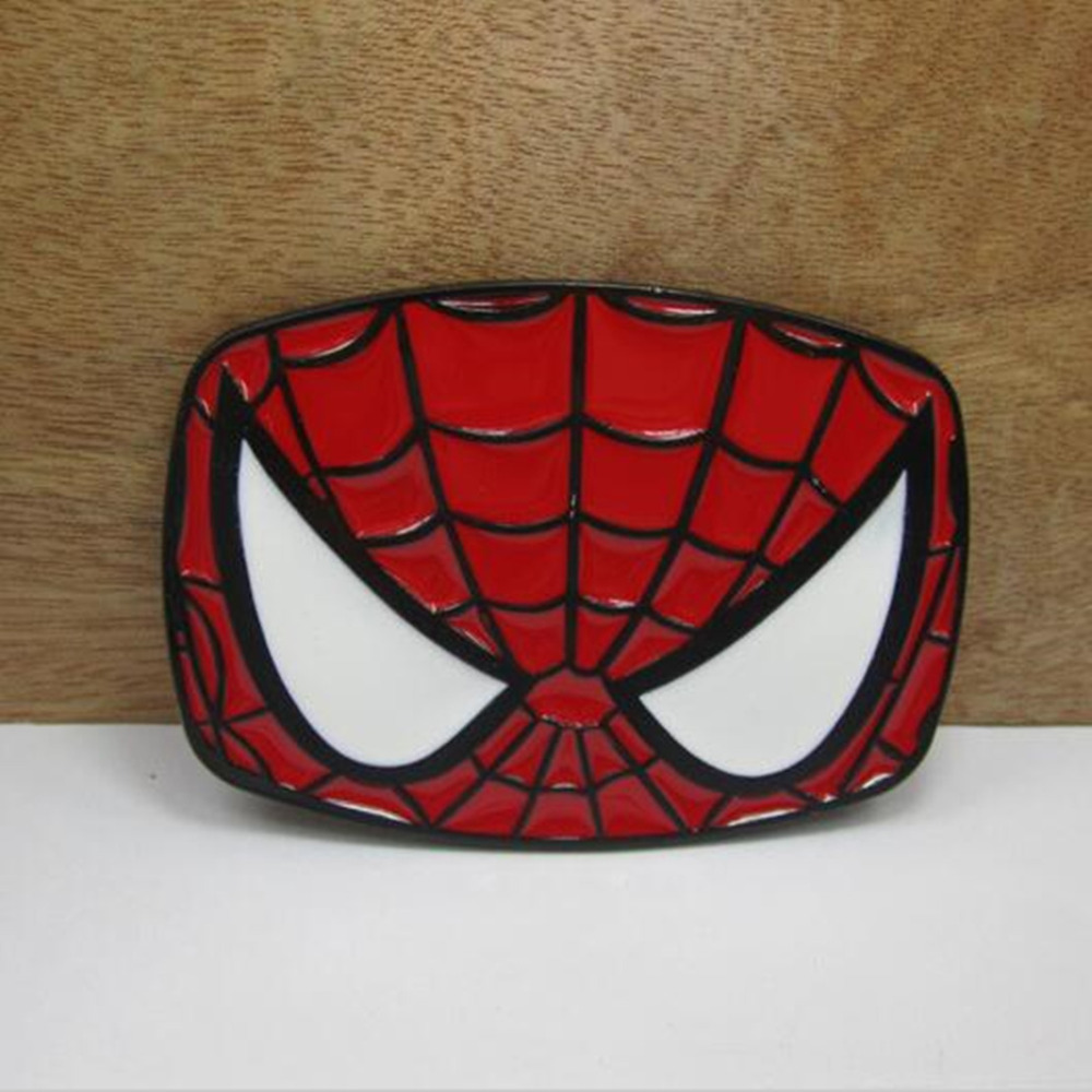 <font><b>Spiderman</b></font> <font><b>Mask</b></font> <font><b>Belt</b></font> <font><b>Buckle</b></font> the Avengers Marvel red Metal <font><b>buckle</b></font> Texas Fashion Mens Western Turbo Nos Tunning for 4cm wideth <font><b>belt</b></font>