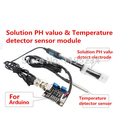 Free shipping Solution PH valuo & Temperature detector sensor module for arduino best quality.