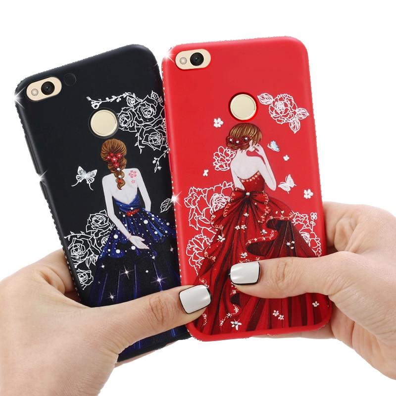 Dress girl silicone case huawei p smart (4)