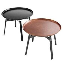 Moderno Stile Europeo Rotondo Vassoio Del Tè Tavolo di Ferro Vernice di Essiccamento Soggiorno Camera da Letto Divano Ad Angolo Lato Semplice Tavolino Rotondo