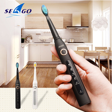 Electric Toothbrush Sonic Wave Rechargeable Top Quality Smart Chip Toothbrush Head Replaceable Whitening Healthy Best Gift !