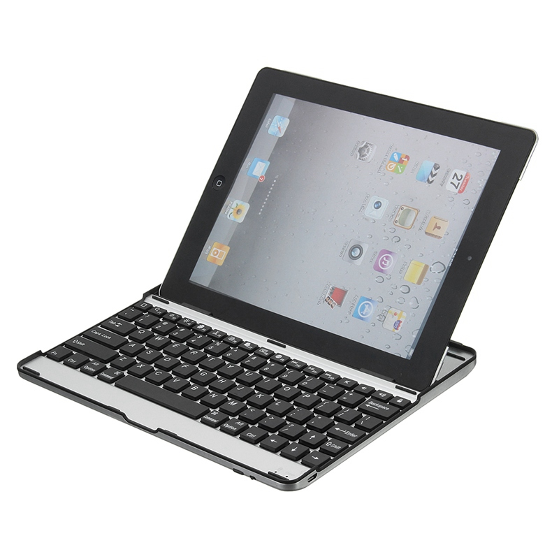 Aluminum Wireless Bluetooth 3.0 Keyboard Stand Case Cover Dock For iPad 2 3 4 New Design For iPad Case Cover For iPad 234 bluetooth v2 0 wireless 78 key keyboard for ipad ipad 2 the new ipad white silver
