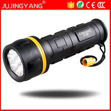 Bright Waterproof ABS D size battery 2W 7 led Flashlight for Household,Camping