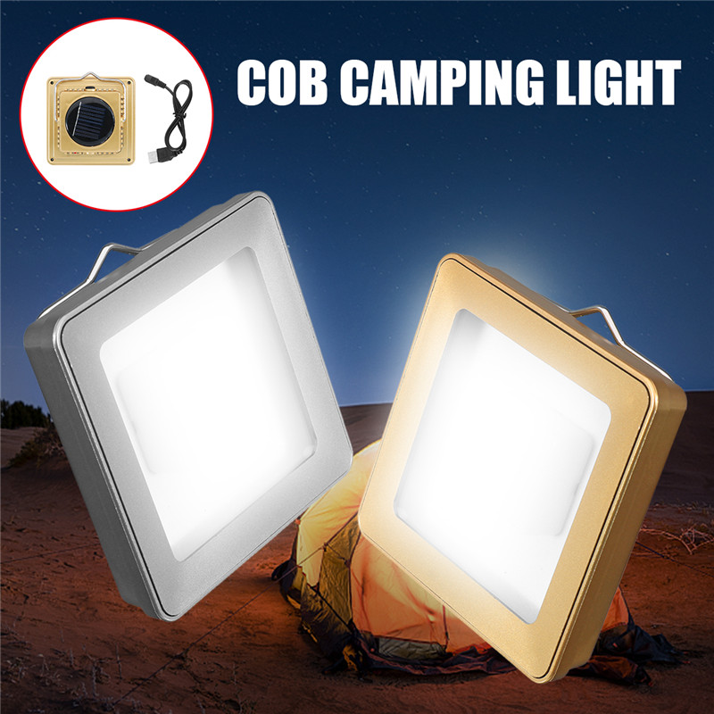 Solar COB Outdoor Emergency Camping Tent Light Lamp Portable USB Rechargeable Hanging Lamp Lantern For Hiking Modern