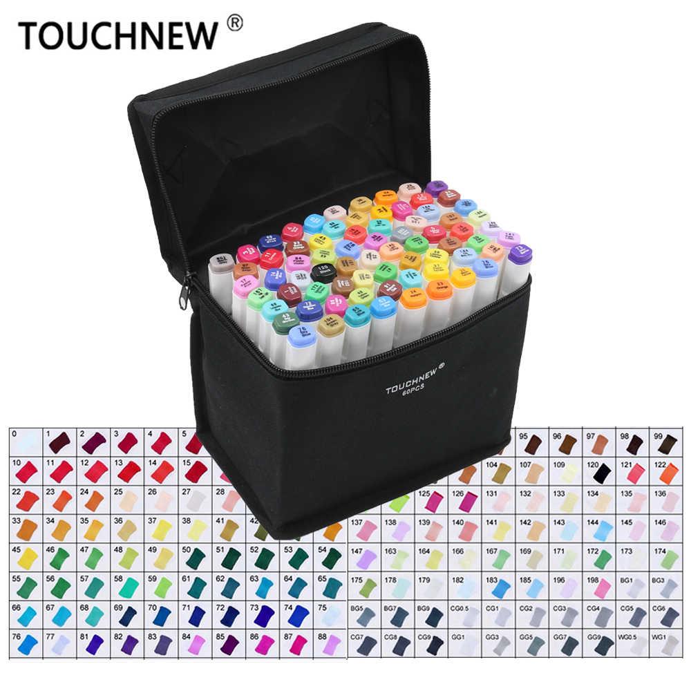Nuevos rotuladores de un solo Color, rotuladores de pincel dobles, marcadores de dibujo a base de Alcohol