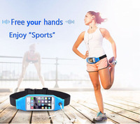 Gym Waterproof Waist Clip Mobile Phone Case Touch Screen Bags For BlackBerry KEYone Mercury ASUS Zenfone
