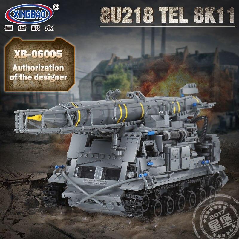 06005 военный WW2 оружие 8U218 тел 8K11 Набор строительных блоков Кирпичи Детские развивающие игрушки модель подарки, совместимые Legoing