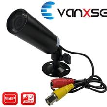 Uvusee CCTV 1/3 Sony CCD 1000TVL 3.6 millimetri HD 8pcs Led IR D/N Mini Macchina Fotografica Della Pallottola di Sicurezza di sorveglianza con Staffa