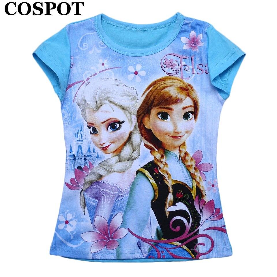 COSPOT Baby Girls Summer T Shirt Girl Cute 100% Cotton T-shirt Girl's Summer Cartoon Prints 2018 New Arrival Free Shipping 38 new 2017 summer 100