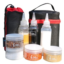 Outdoor Tableware Plastic Spice Jar Camping Bottles Set Condiment For BBQ Sause Container With Organize Carry Storage Bag