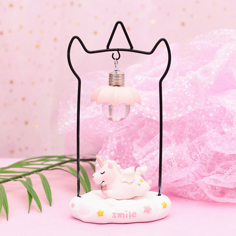 Cartoon Unicorn Resin LED Night Light Girls Room Decoration Lamp Bedside Lamp For Baby Kids Christmas New Year Birthday Gift (10)