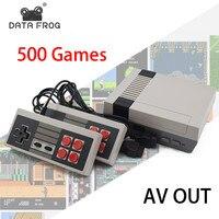 Veri Kurbağa Retro Mini Video Oyun Konsolu 8 Bitlik TV Oyun Konsolları Dahili 500 Klasik Oyunları Çocuklar Aile Için Destek PAL ve NTSC