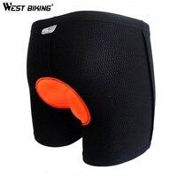 מערב ג 'ל רכיבה בגדי אופניים רכיבה על אופניים ביגוד 3D Pad תחתונים לנשימה תחתוני גברים גודל M-3XL מכנסיים שחורים