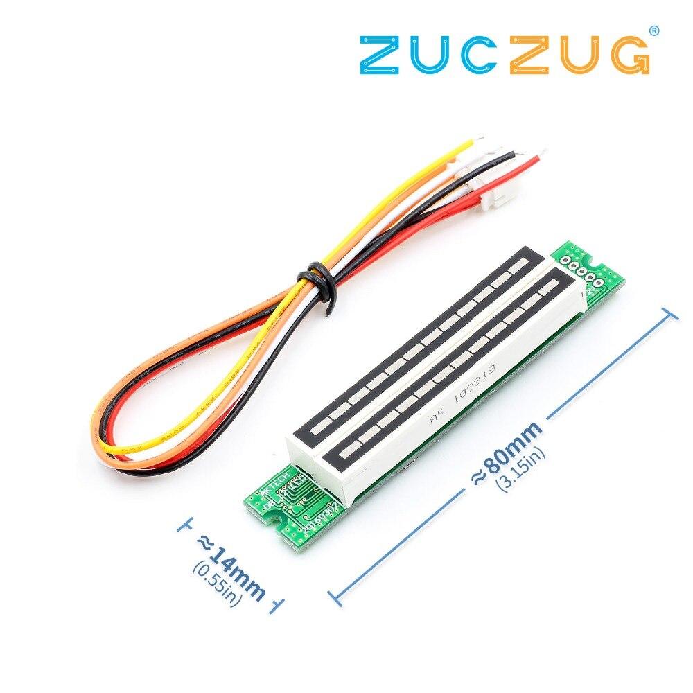 Dual 12 Level indicator VU Meter Stereo Amplifier Board Light Speed Board w// AGC