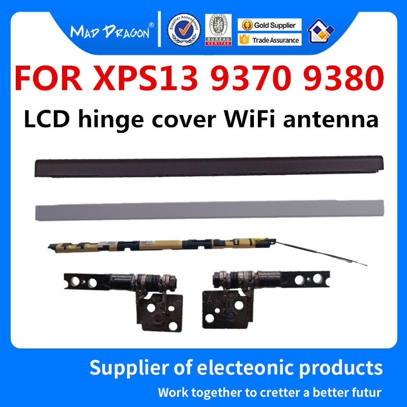 MAD DRAGON marque ordinateur portable nouveau Original LCD charnière couverture WiFi antenne couverture noir blanc pour Dell XPS13 9370 9380 0 HMCFG 0312XC 312XC