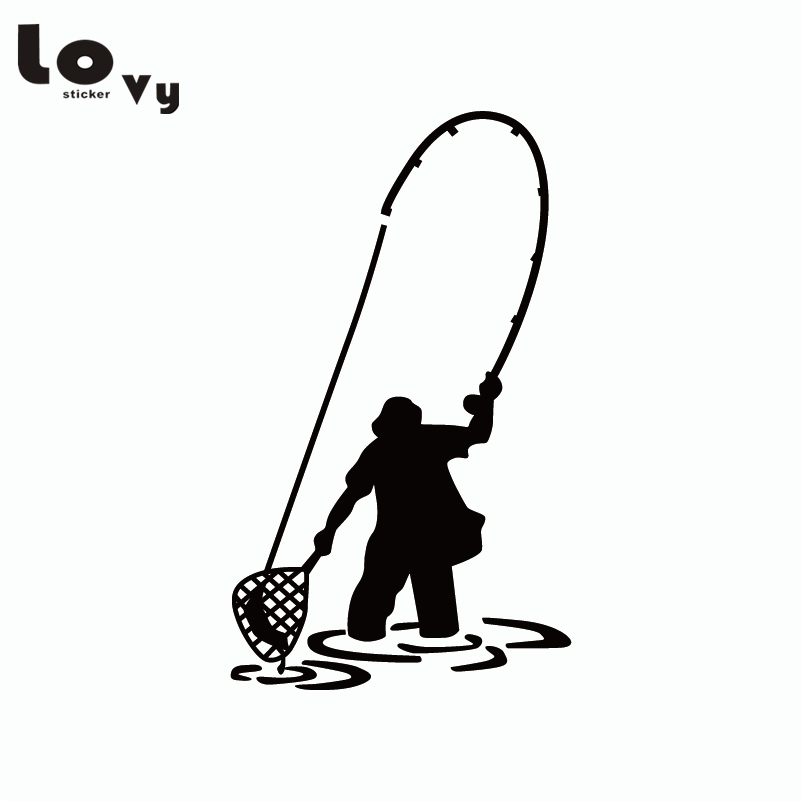 Fly Fishing Fisherman Trout Fish Funny Vinyl Car Sticker Car Window Door Bumper Decal