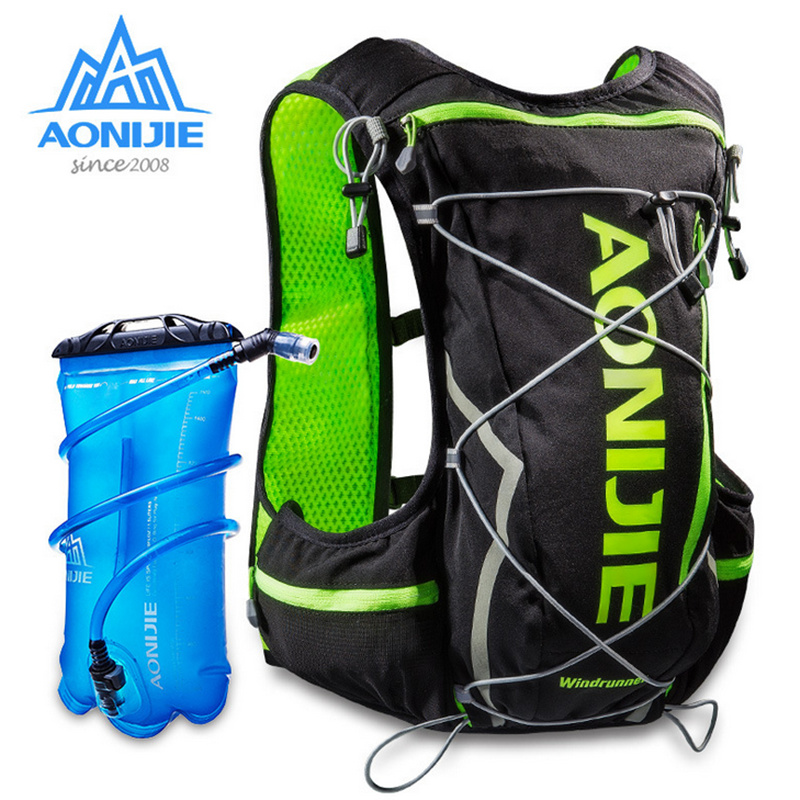 AONIJIE Outdoor Cross Country 10L Male And Female Marathon Water Bag Backpack Sports Vest Hiking Bag With+2L Hydration Water Bag-in Running Bags from Sports & Entertainment    1