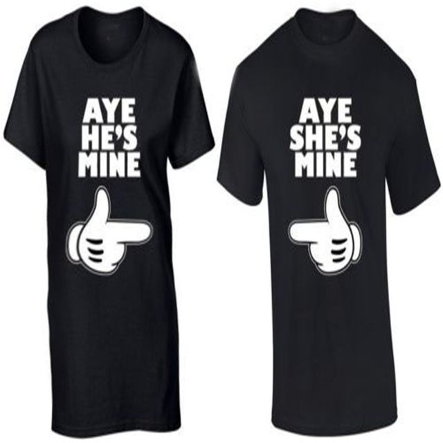 Fashion Couple T Shirt Aye He S Mine Aye She S Mine Shirt