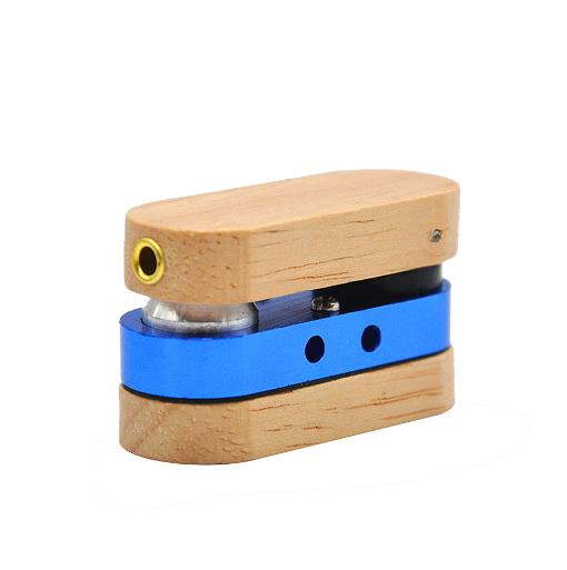 New Wood with Metal Mini Pipes Rotation Portable Creative Smoking Pipe Herb Tobacco Pipe Gifts Weed Grinder Smoke Mouthpiece