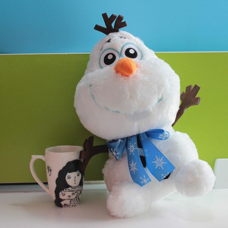 High Quality Snowman Olaf Long Plush Toy Stuffed Animal Cute Movie Doll Kids Christmas Gift 35cm christmas snowman toy kids gift star shape candy jar