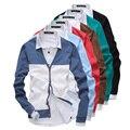 2014 nova primavera moda jogo 7 cor Patchwork Cardigan V - pescoço dos homens camisolas Slim fit roupas Outerwear M-XXL