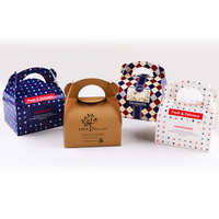 Free Shipping 100pcs The New Navy Blue Nougats Packing Box Donuts Cookies Box Cake Box With