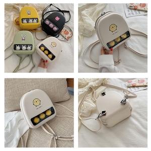 Image 4 - Màu Vàng Dễ Thương Vịt Rõ Ràng Ita Bookbags Nữ Hoạt Hình In Hình Ba Lô Nữ Mini Schoolbags Cho Bé Gái Lưng Bằng Pu Gói 2019 hot