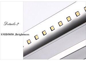 Image 4 - 무료 배송 5W LED 벽 조명 SMD5050 스테인레스 스틸 LED 미러 조명 램프 AC110V/220V 욕실 거울 조명