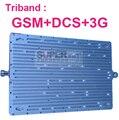 Nueva GSM DCS 3G 3 bandas DCS1800Mhz repetidor GSM 900 Mhz WCDMA 2100 Mhz aumentador de presión, amplificador booster Tribanda tribanda repetidor 3 bandas de refuerzo